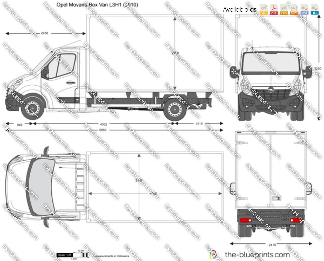 Opel Movano Box Van L3H1