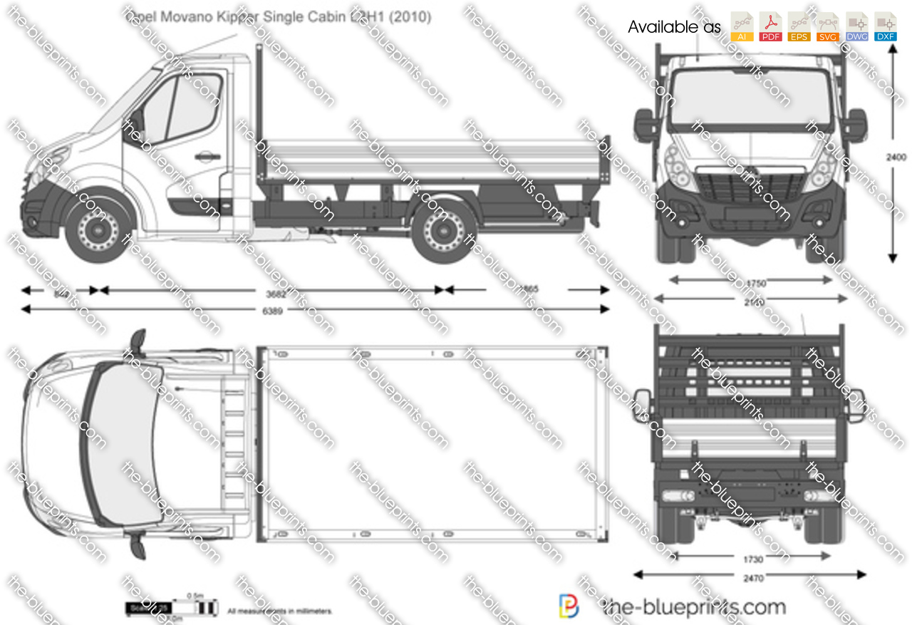 the vector drawing opel movano kipper single cabin l2h1. Black Bedroom Furniture Sets. Home Design Ideas