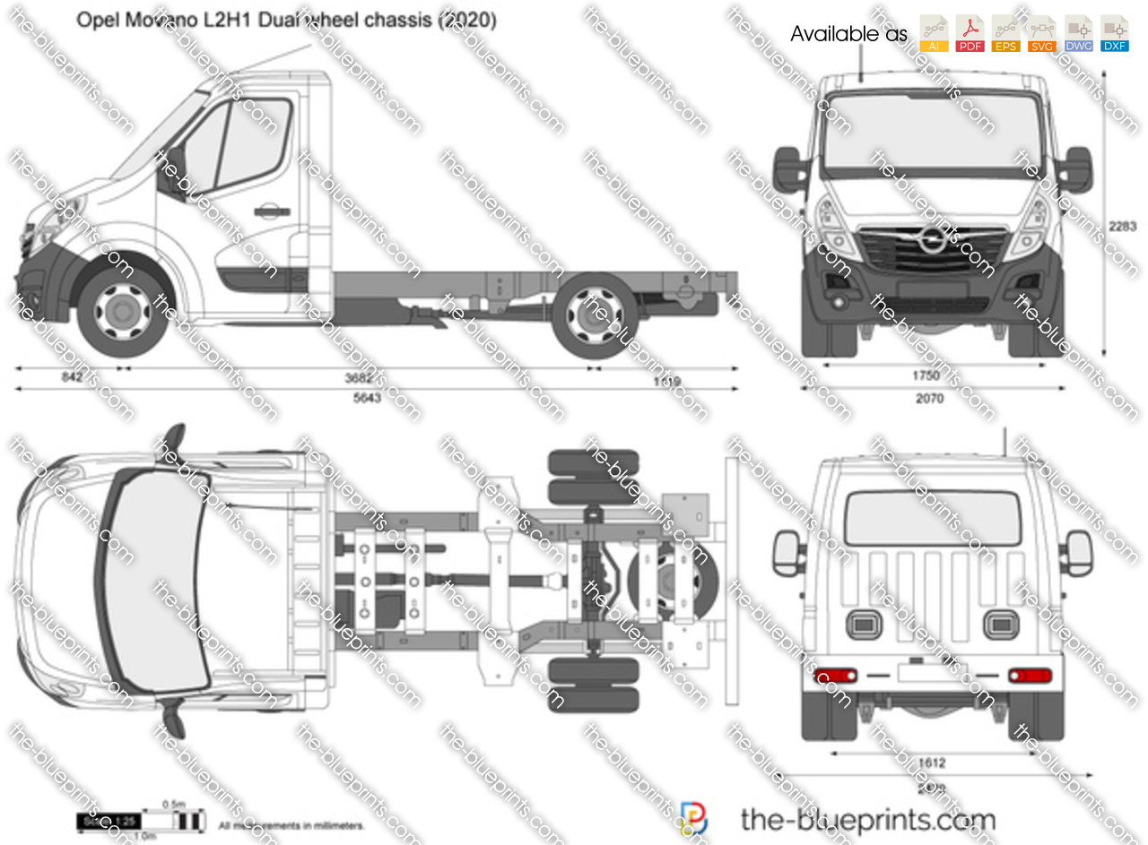 Opel Movano L2H1 Dual wheel chassis