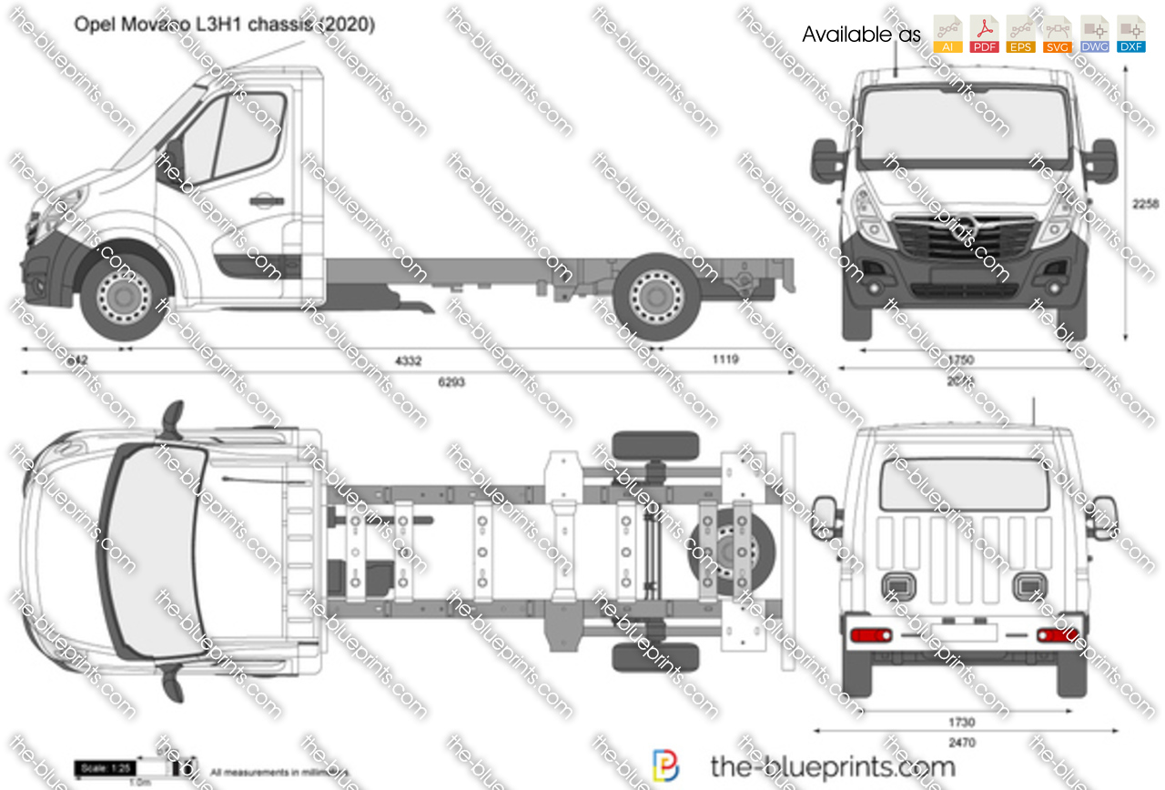 Opel Movano L3H1 chassis