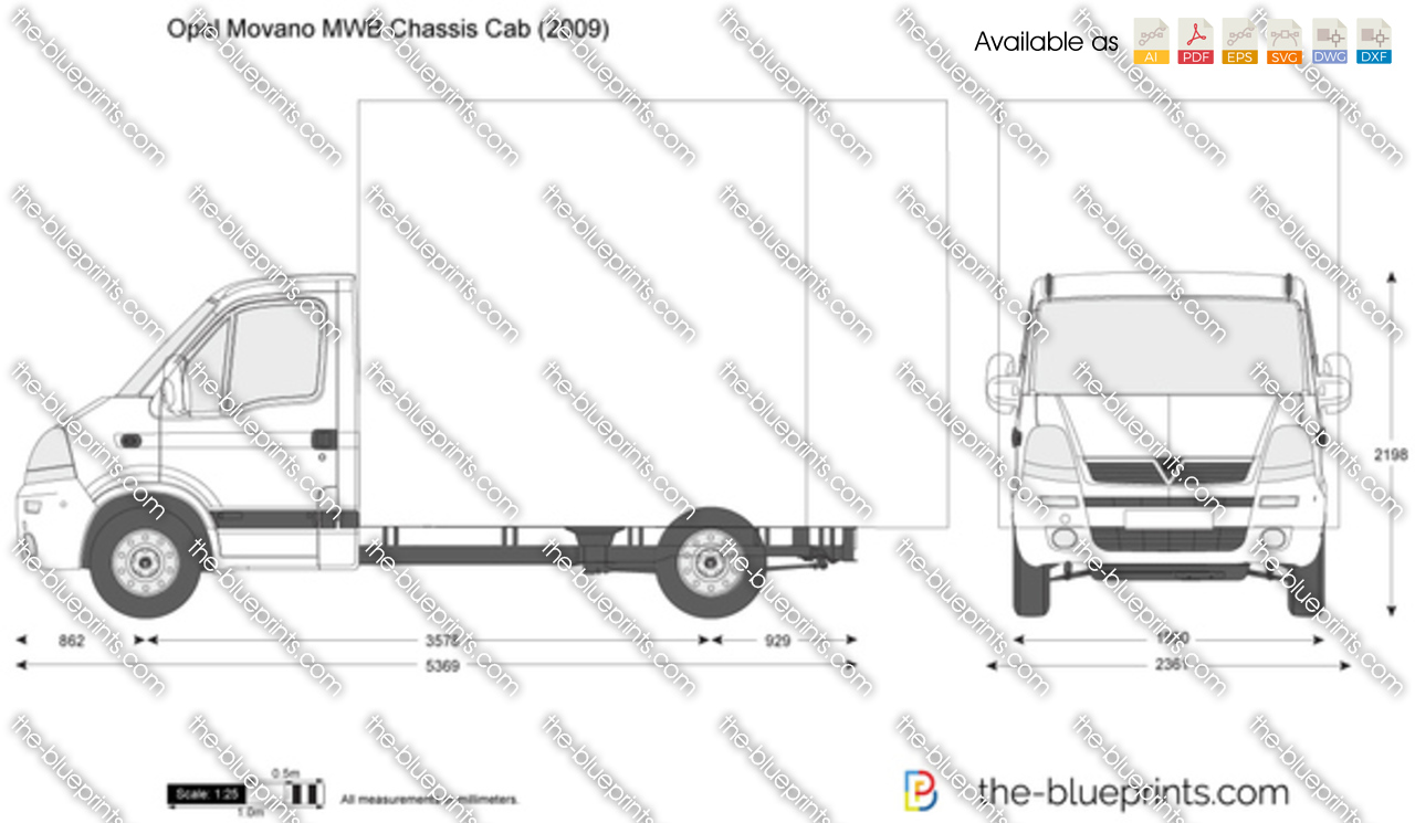 Opel Movano MWB Chassis Cab