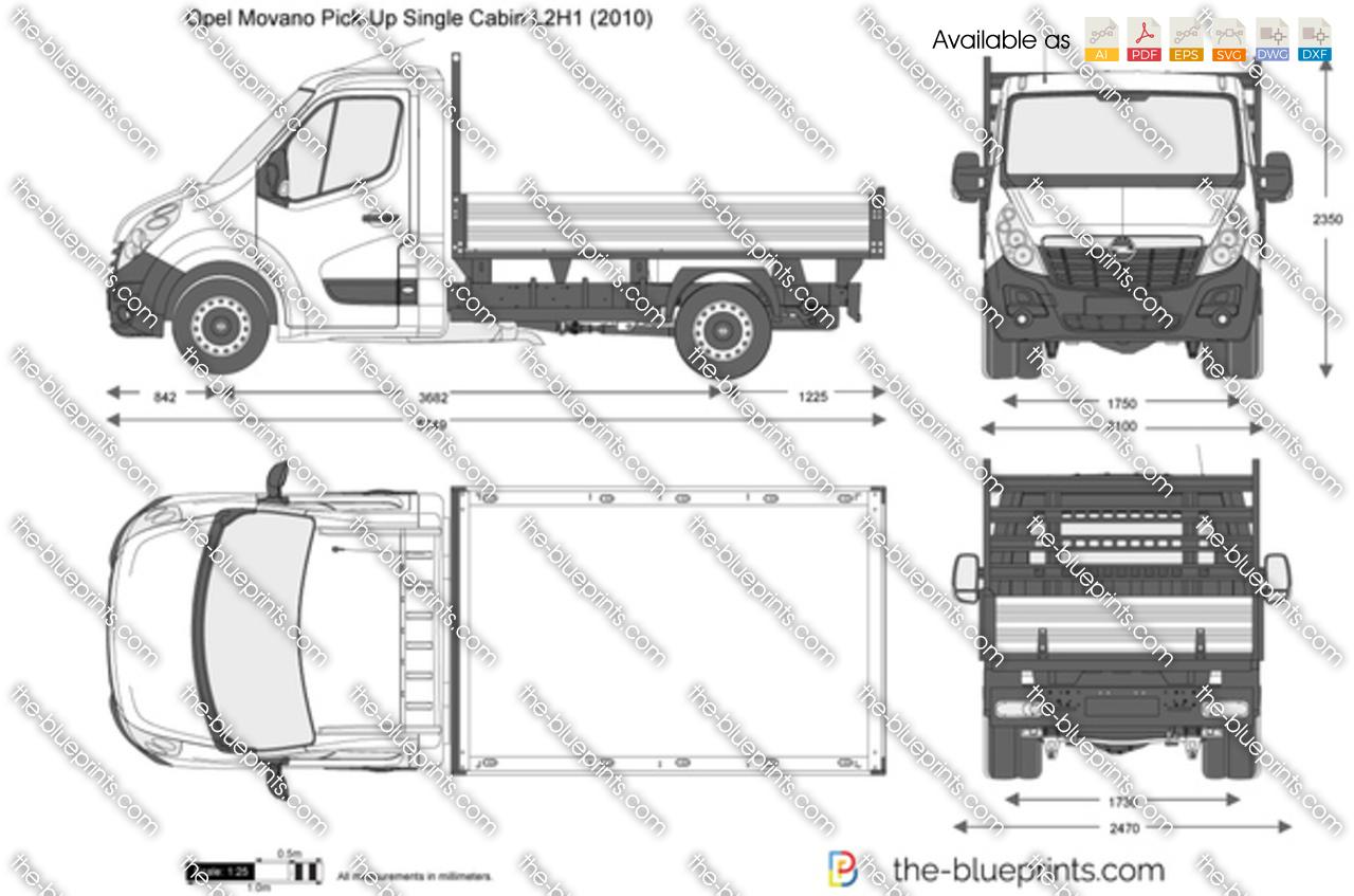 Opel Movano Pick-Up Single Cabin L2H1 2014