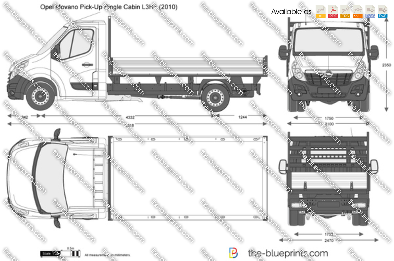 Opel Movano Pick-Up Single Cabin L3H1 2014