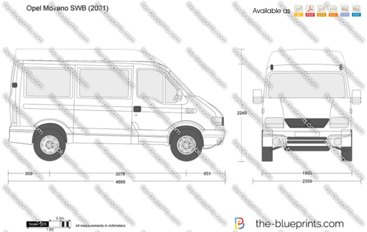 the vector drawing opel movano swb. Black Bedroom Furniture Sets. Home Design Ideas