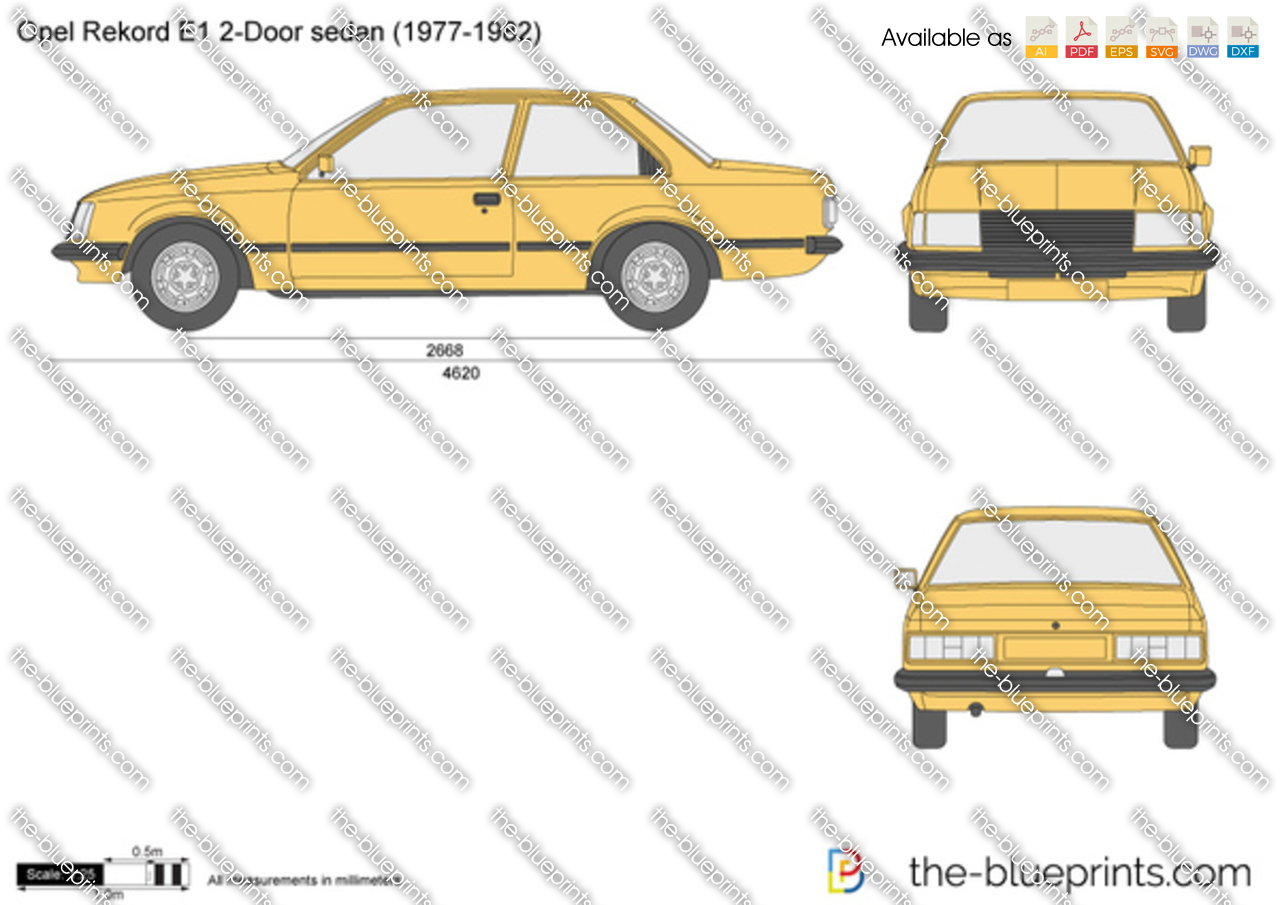 opel rekord e1 2 door sedan vector drawing. Black Bedroom Furniture Sets. Home Design Ideas