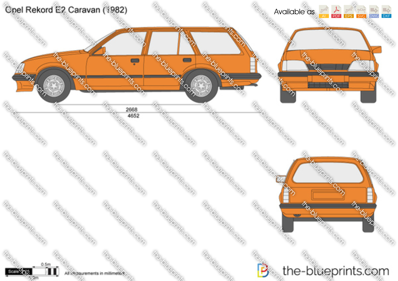 opel rekord e2 caravan vector drawing. Black Bedroom Furniture Sets. Home Design Ideas