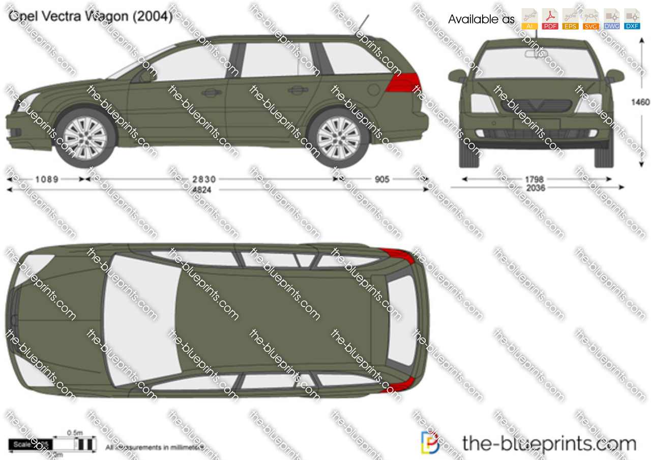 opel vectra wagon vector drawing. Black Bedroom Furniture Sets. Home Design Ideas