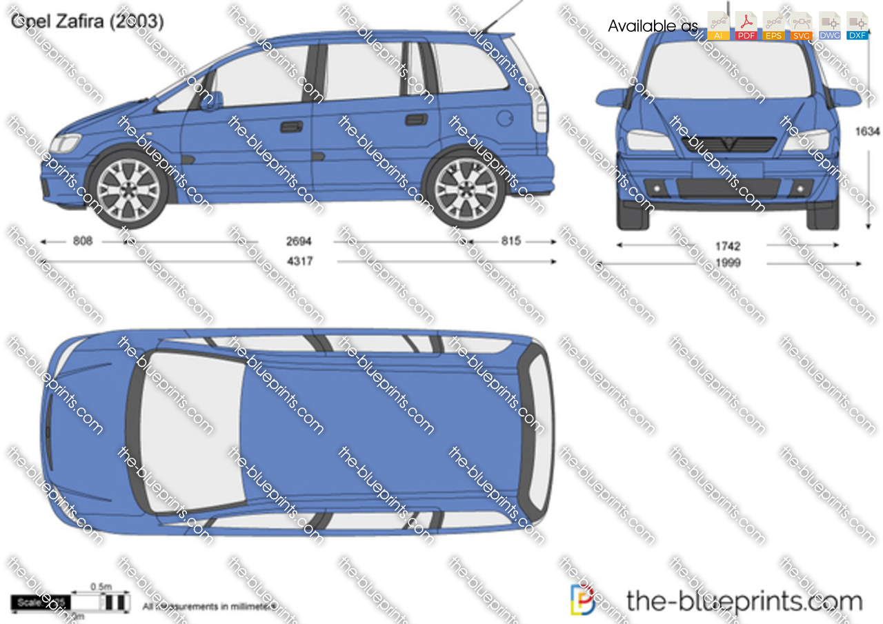 the vector drawing opel zafira. Black Bedroom Furniture Sets. Home Design Ideas