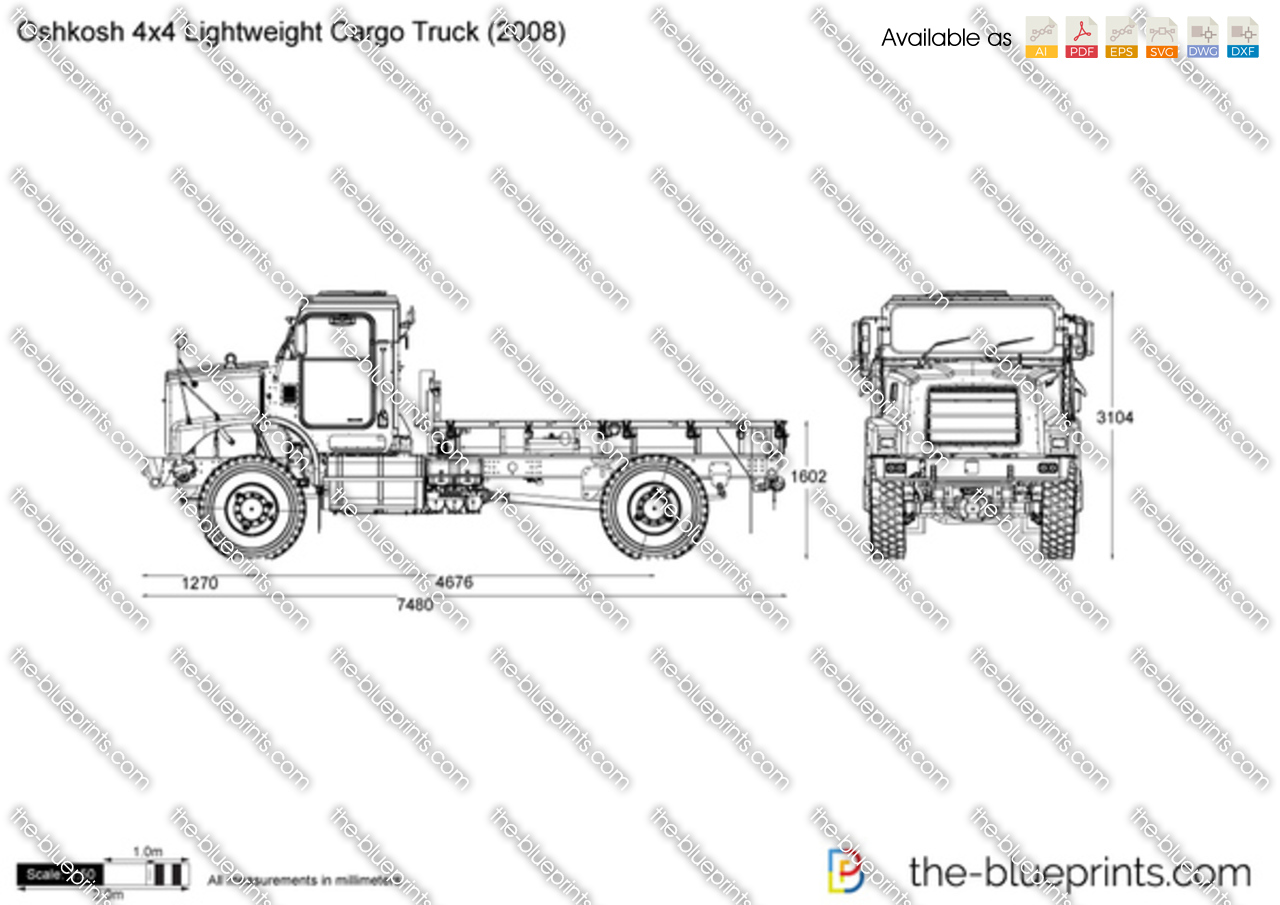 Oshkosh 4x4 Lightweight Cargo Truck