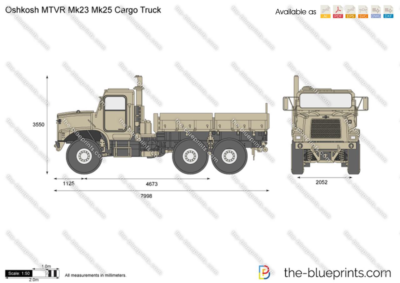 Oshkosh MTVR Mk23 Mk25 Cargo Truck