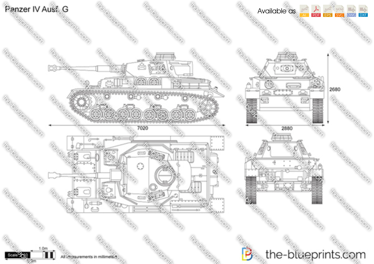Panzer iv ausf g vector drawing for Where to get blueprints