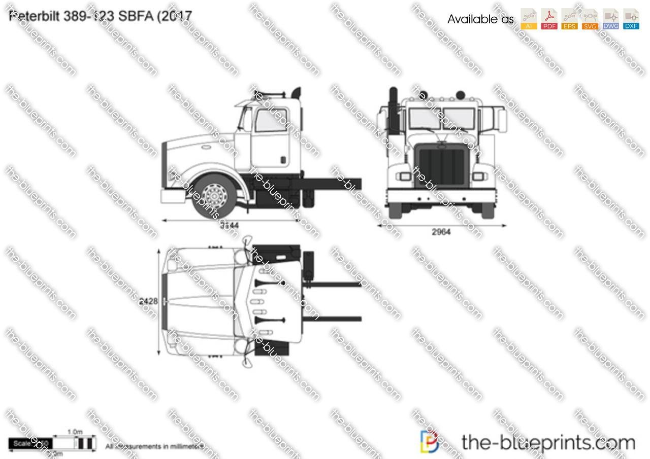 Peterbilt 389-123 SBFA (2017