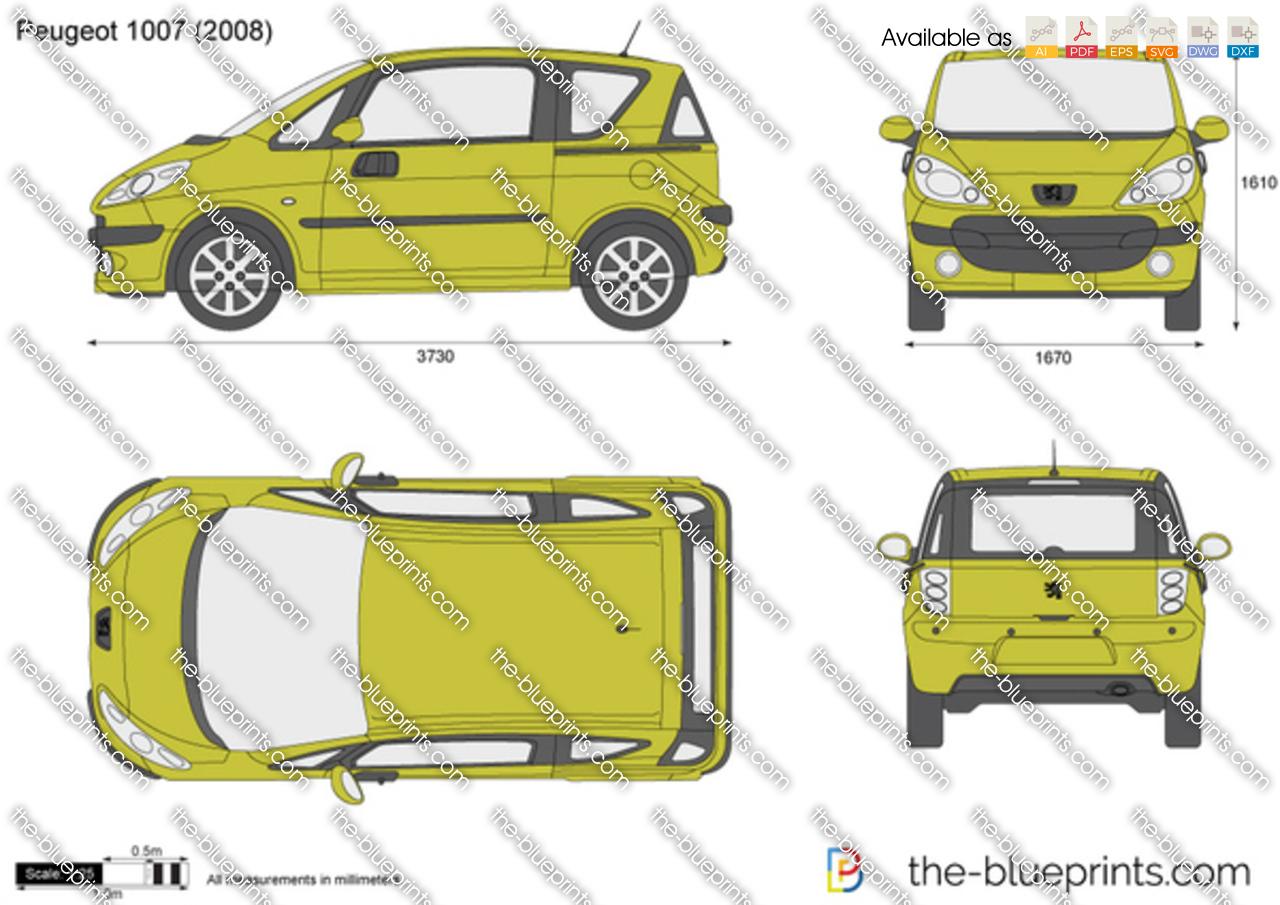 Peugeot 1007 dimensions
