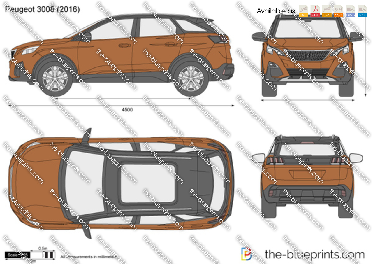 peugeot 3008 suv vector drawing. Black Bedroom Furniture Sets. Home Design Ideas