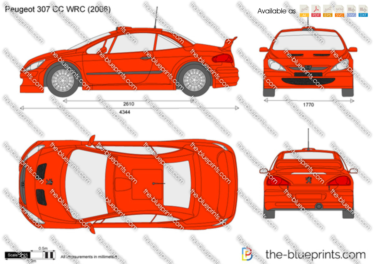 the vector drawing peugeot 307 cc wrc. Black Bedroom Furniture Sets. Home Design Ideas
