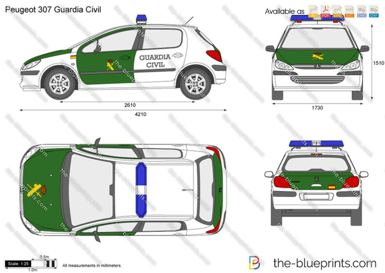 Peugeot 307 Guardia Civil
