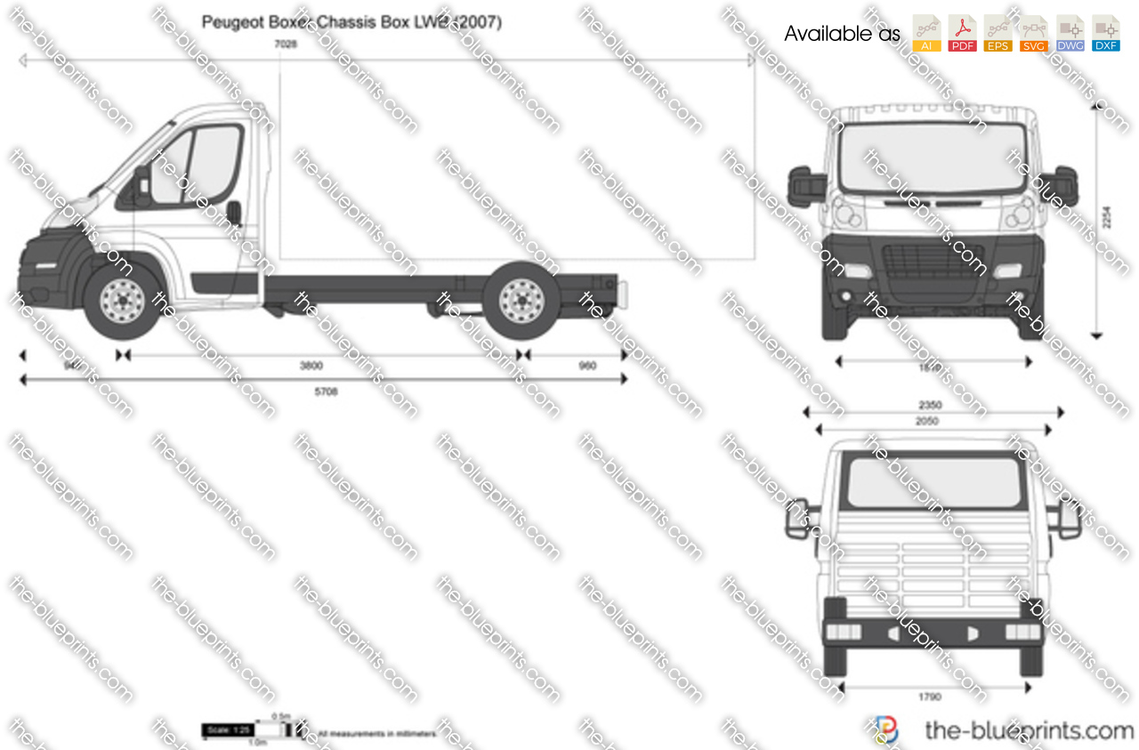 the vector drawing peugeot boxer chassis box lwb. Black Bedroom Furniture Sets. Home Design Ideas