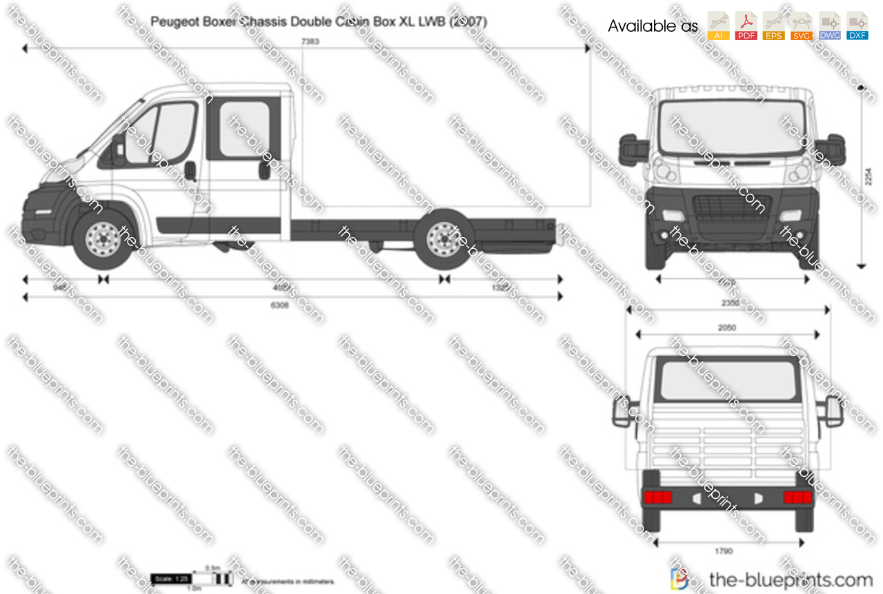 Peugeot Boxer Chassis Double Cabin Box XL LWB 2012