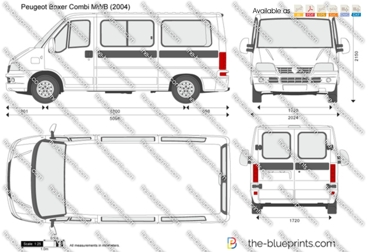 the vector drawing peugeot boxer combi mwb. Black Bedroom Furniture Sets. Home Design Ideas