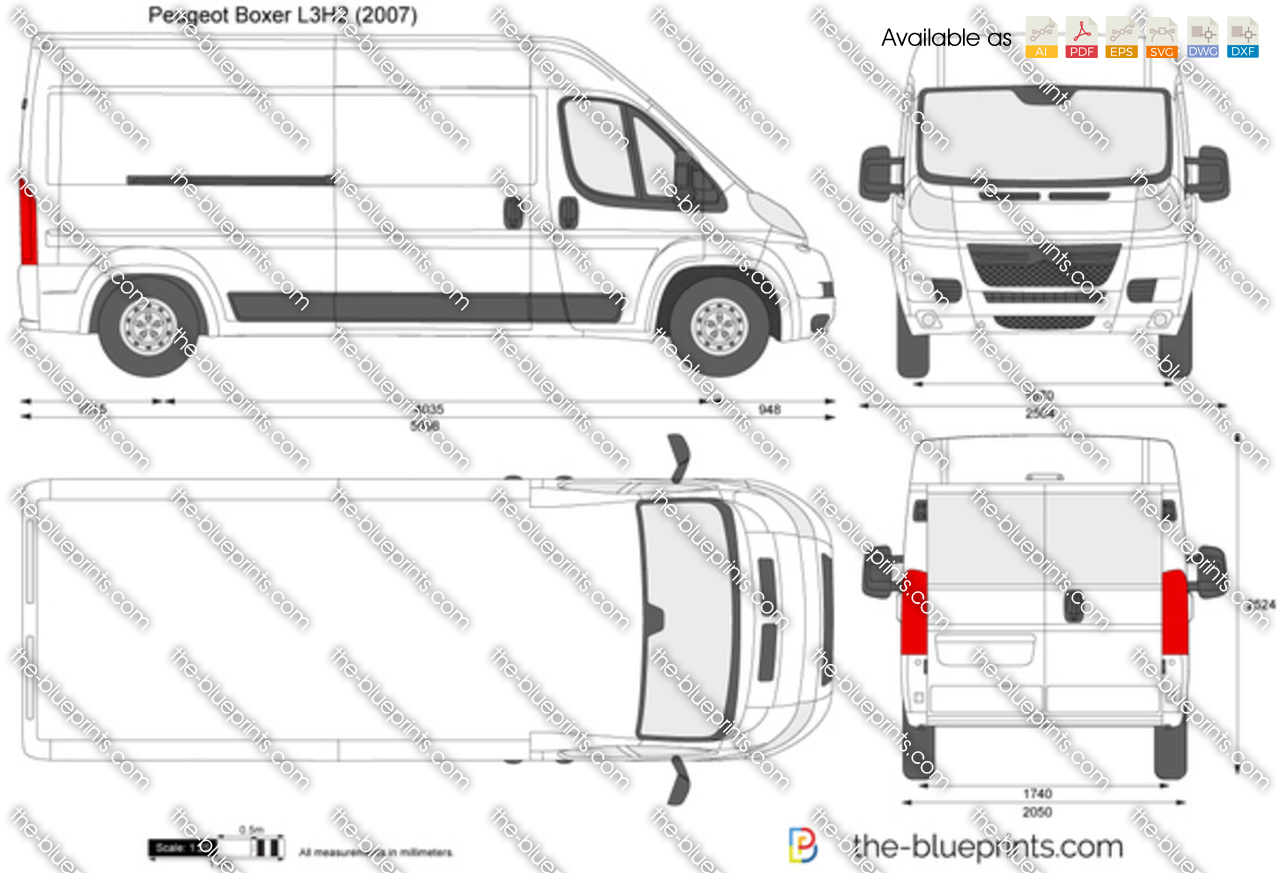 the vector drawing peugeot boxer l3h2. Black Bedroom Furniture Sets. Home Design Ideas