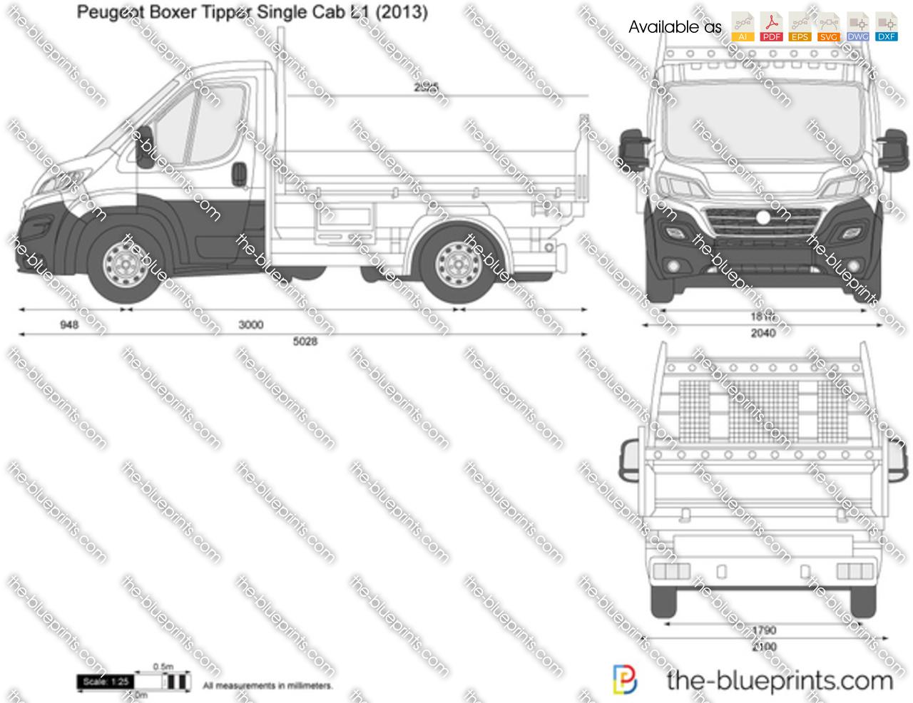 Peugeot Boxer Tipper Single Cab L1