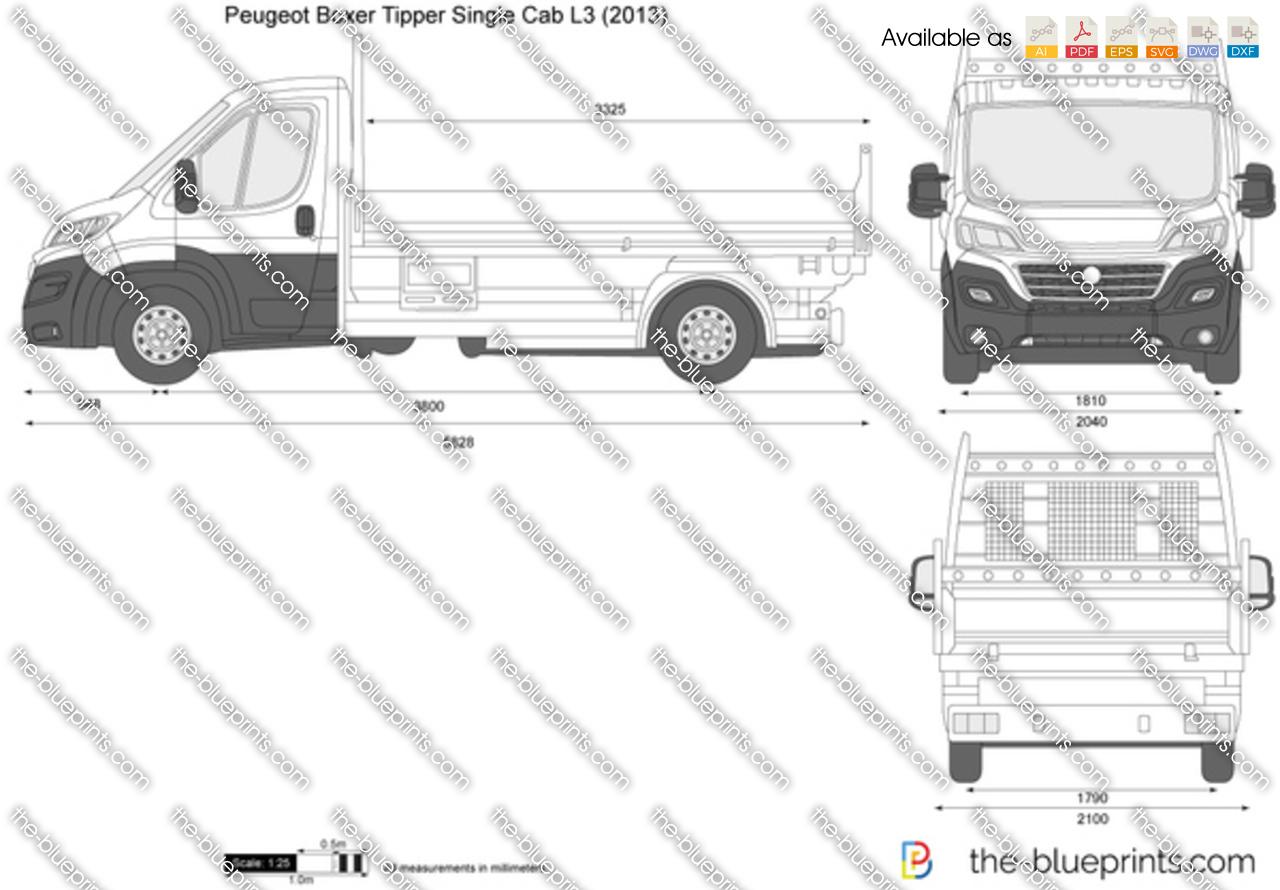Peugeot Boxer Tipper Single Cab L3