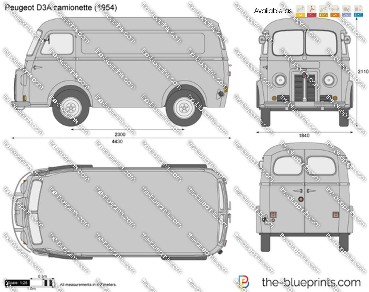 Peugeot D3A camionette