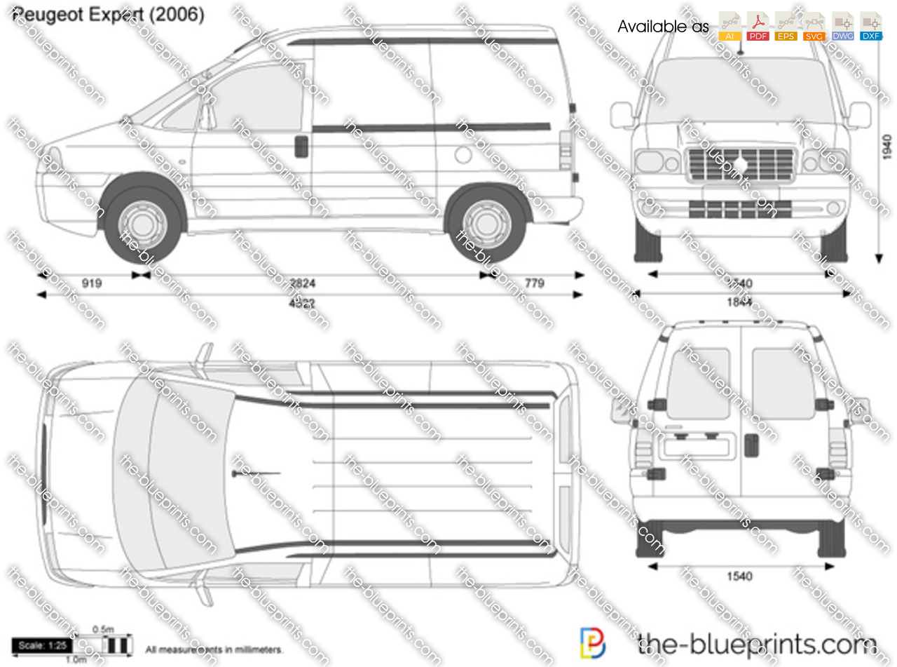peugeot expert vector drawing