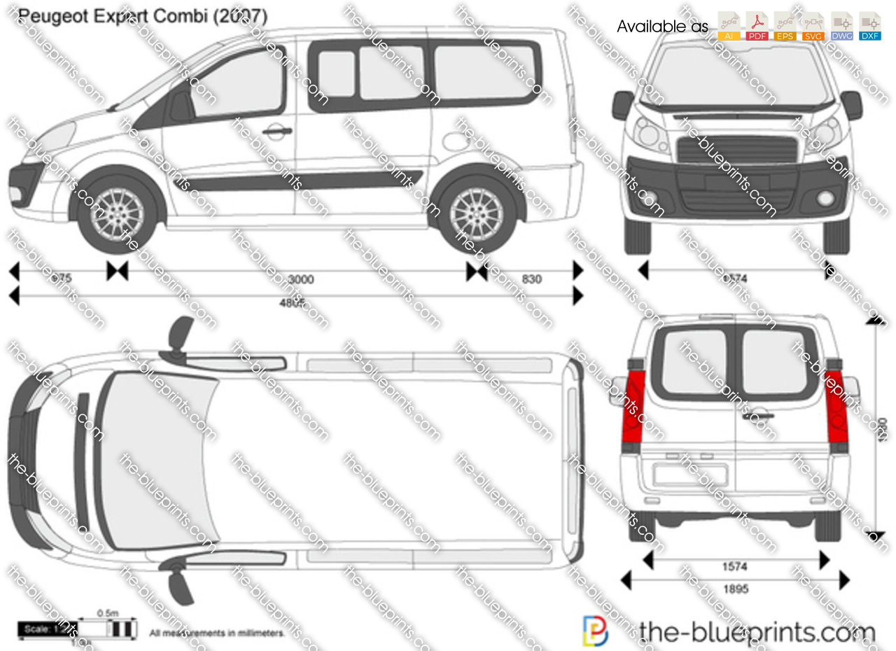 the vector drawing peugeot expert combi. Black Bedroom Furniture Sets. Home Design Ideas