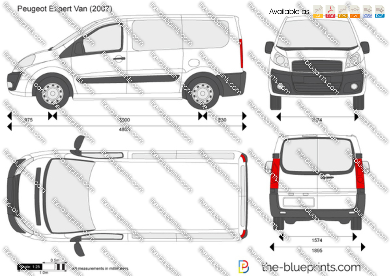 the vector drawing peugeot expert van. Black Bedroom Furniture Sets. Home Design Ideas