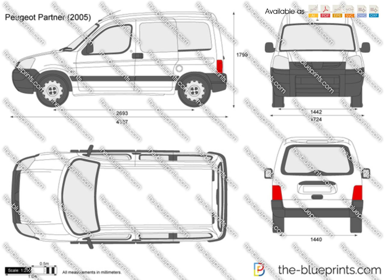 the vector drawing peugeot partner. Black Bedroom Furniture Sets. Home Design Ideas