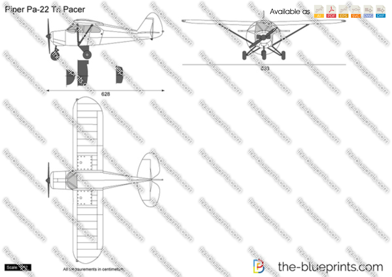 Piper Tri Pacer Plans http://www.the-blueprints.com/vectordrawings/show/5409/piper_pa-22_tri_pacer/