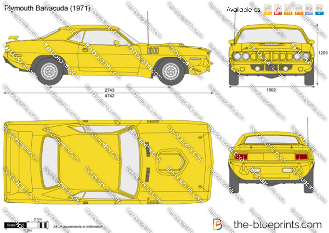 Plymouth Barracuda Vector Drawing