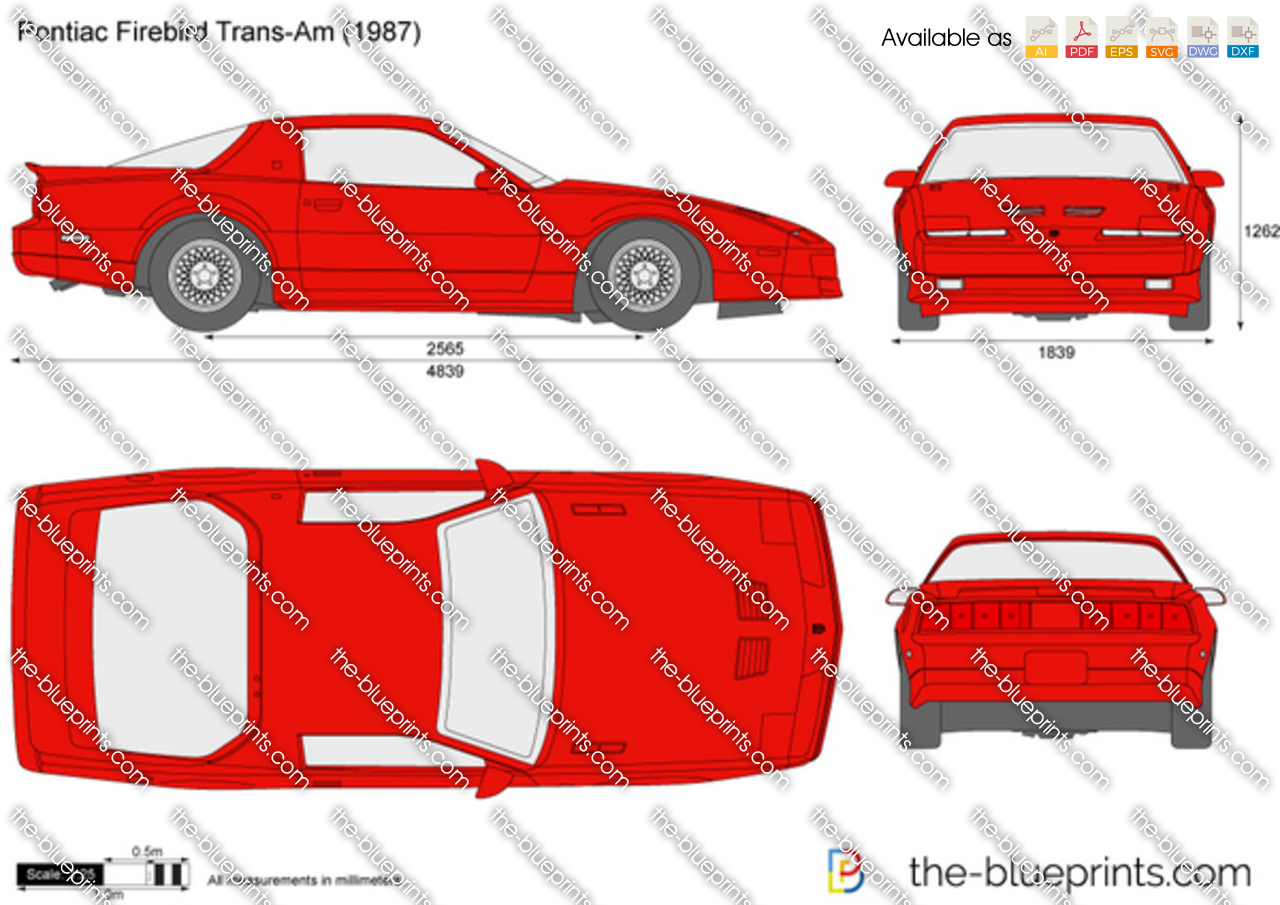 Pontiac Firebird Trans Am Vector Drawing