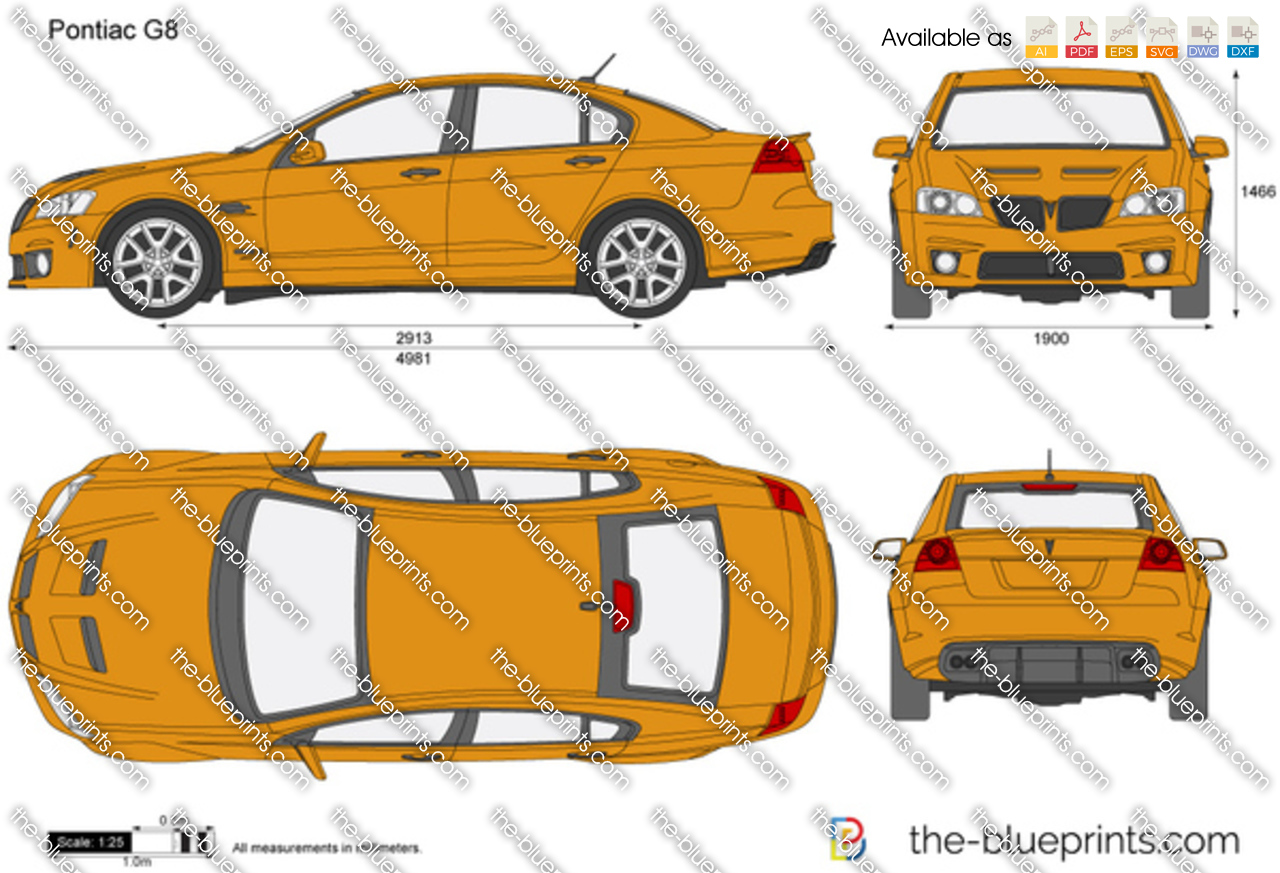 The Blueprints Com Vector Drawing Pontiac G8