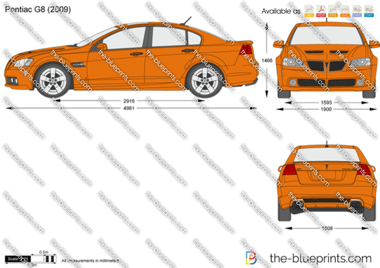 Pontiac G8 Vector Drawing