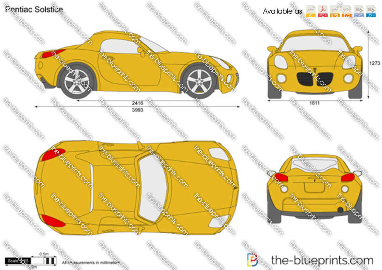 Pontiac Solstice Vector Drawing