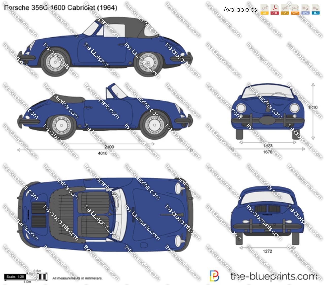 Porsche 356C 1600 Cabriolet
