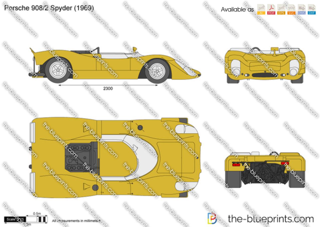 Porsche 908 Spyder Vector Drawing