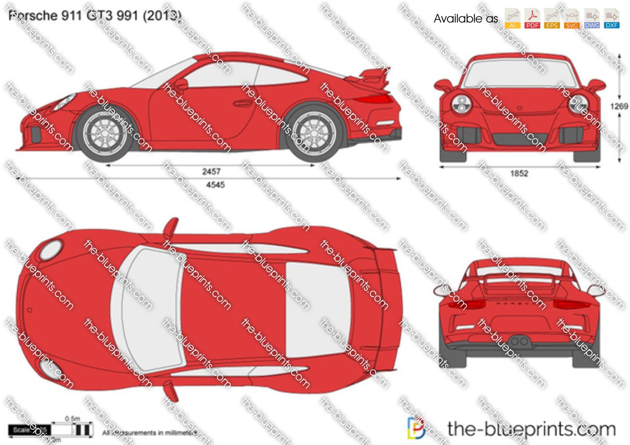 porsche 911 gt3 991 vector drawing. Black Bedroom Furniture Sets. Home Design Ideas