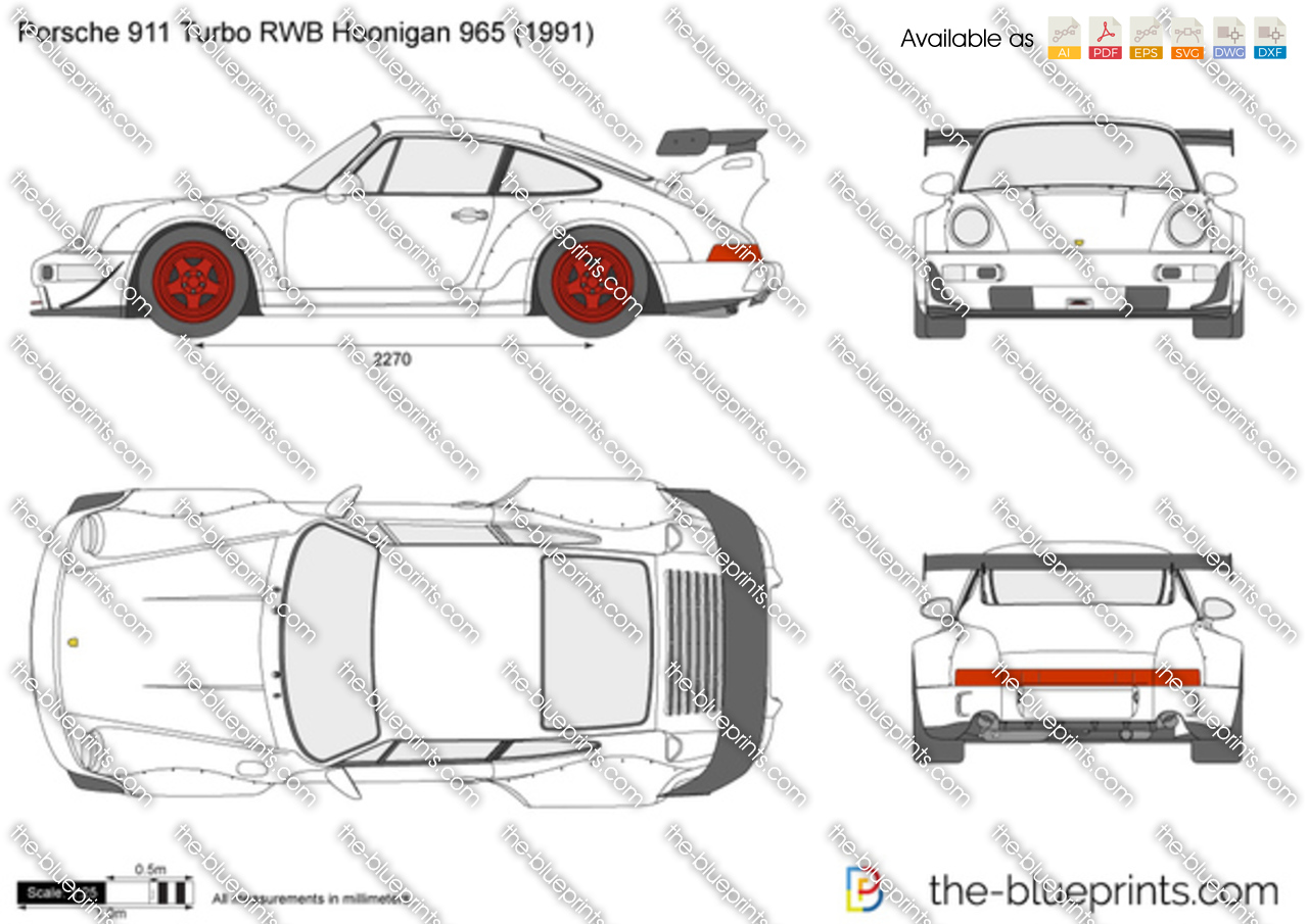 Porsche 911 Turbo RWB Hoonigan 965