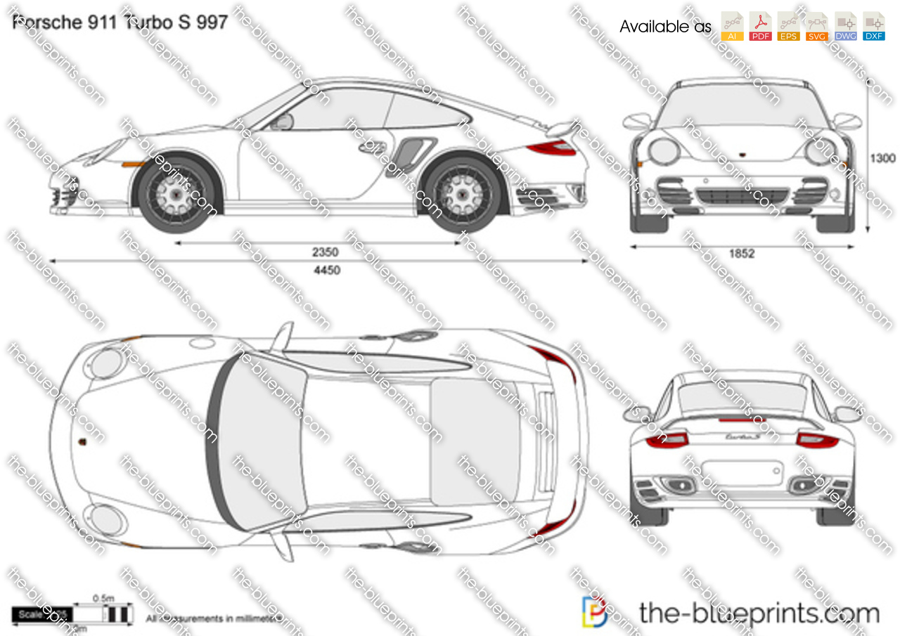 the vector drawing porsche 911 turbo s 997. Black Bedroom Furniture Sets. Home Design Ideas