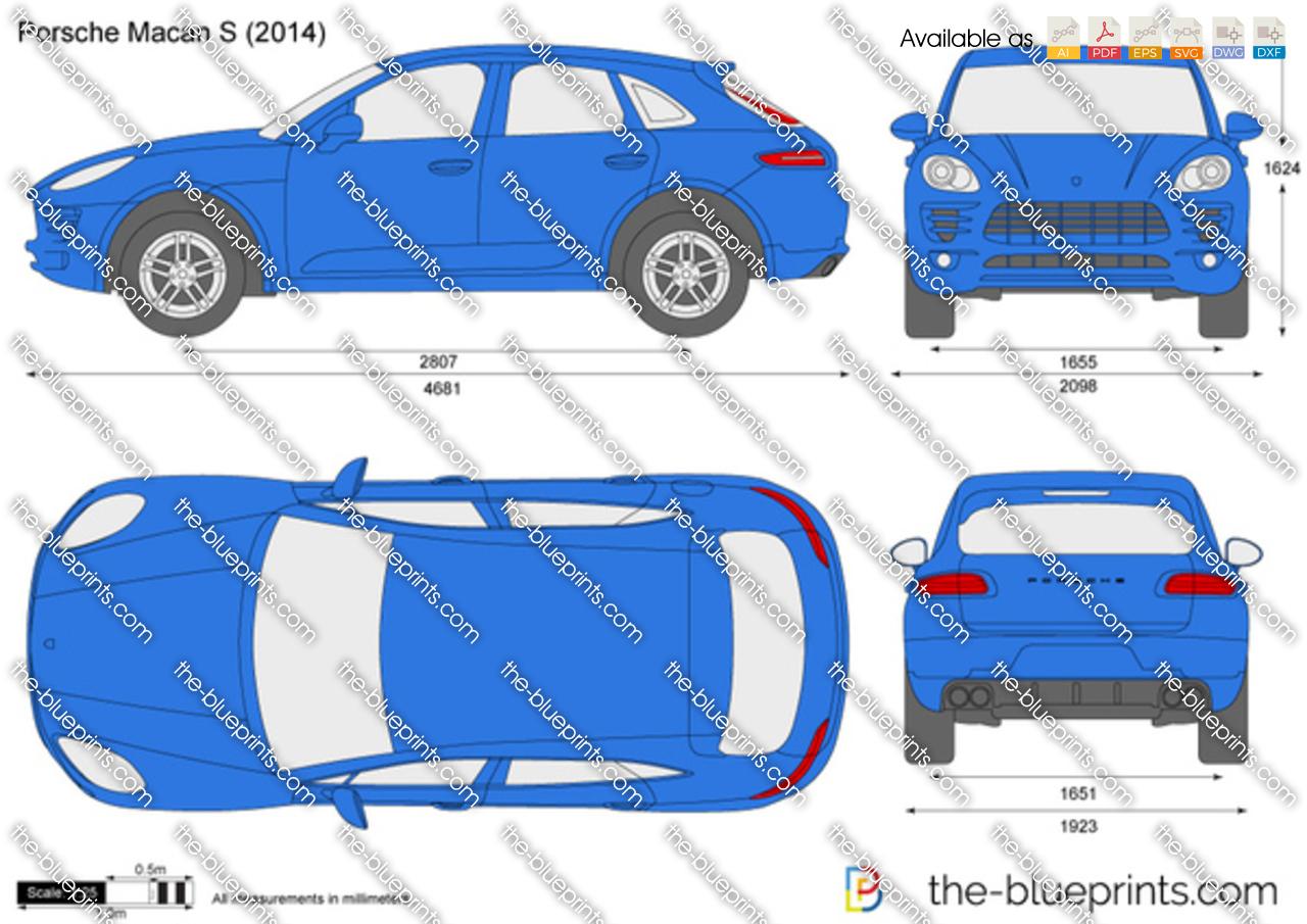 The Blueprints Com Vector Drawing Porsche Macan S
