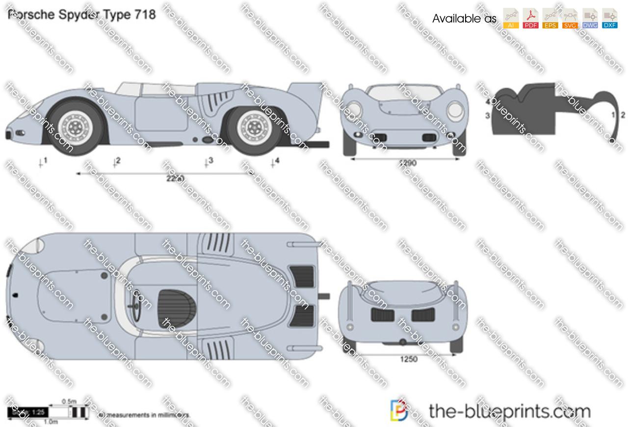 Porsche Spyder Type 718 1960