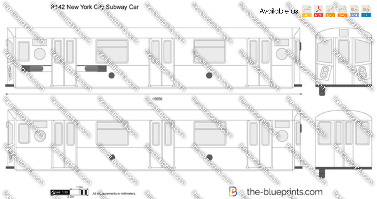 The blueprints vector drawing r142 new york city subway car malvernweather Image collections