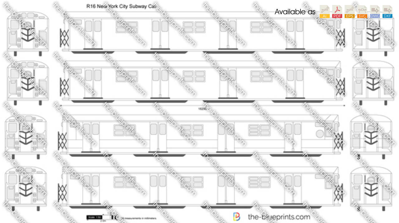 R16 new york city subway car vector drawing malvernweather Image collections