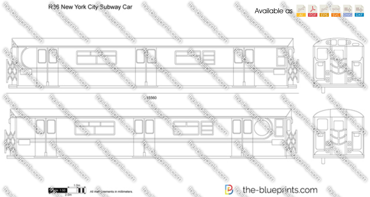 R36 new york city subway car vector drawing r36 new york city subway car malvernweather Gallery
