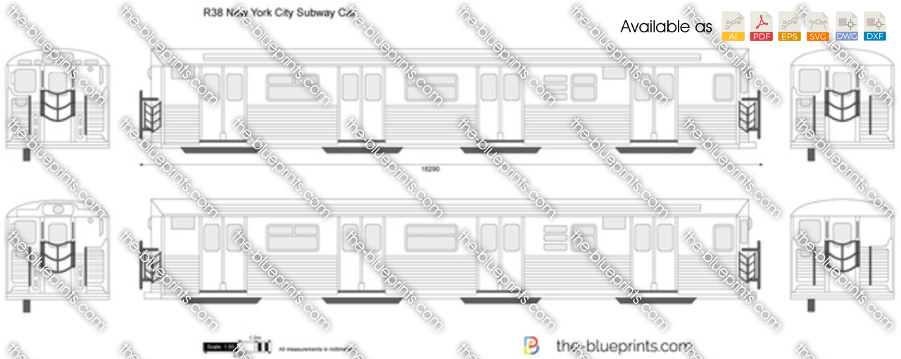 R38 new york city subway car vector drawing r38 new york city subway car malvernweather Gallery