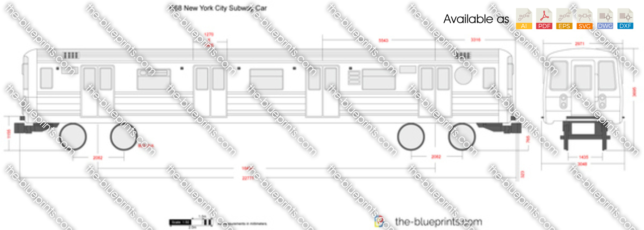 R68 new york city subway car vector drawing malvernweather Gallery