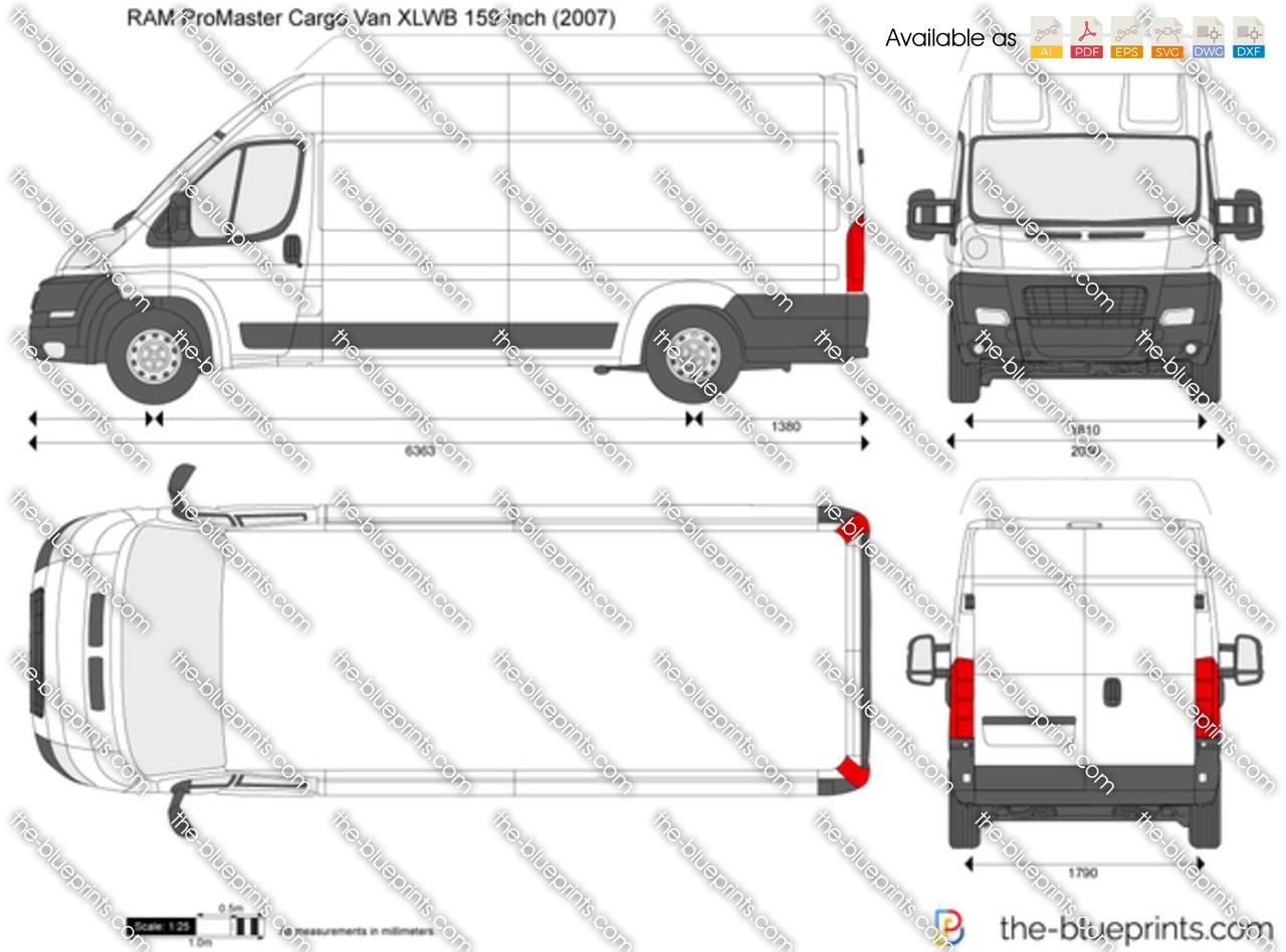 RAM ProMaster Cargo Van XLWB 159 inch
